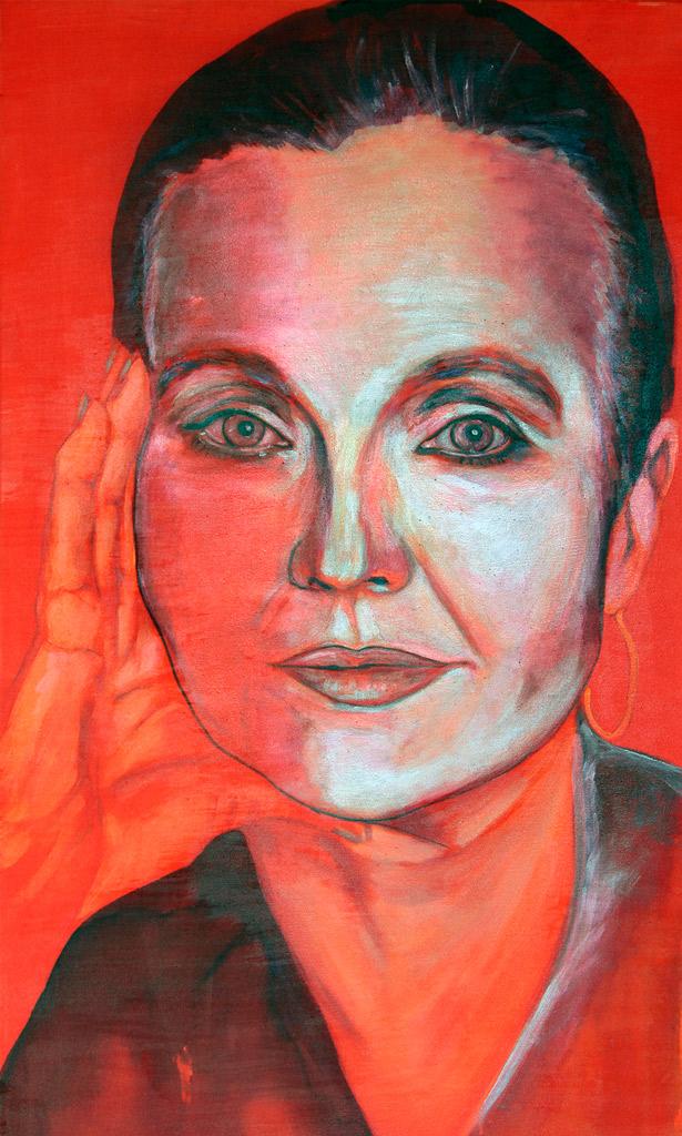 Porträt_Hanna Schygulla_70x120 cm