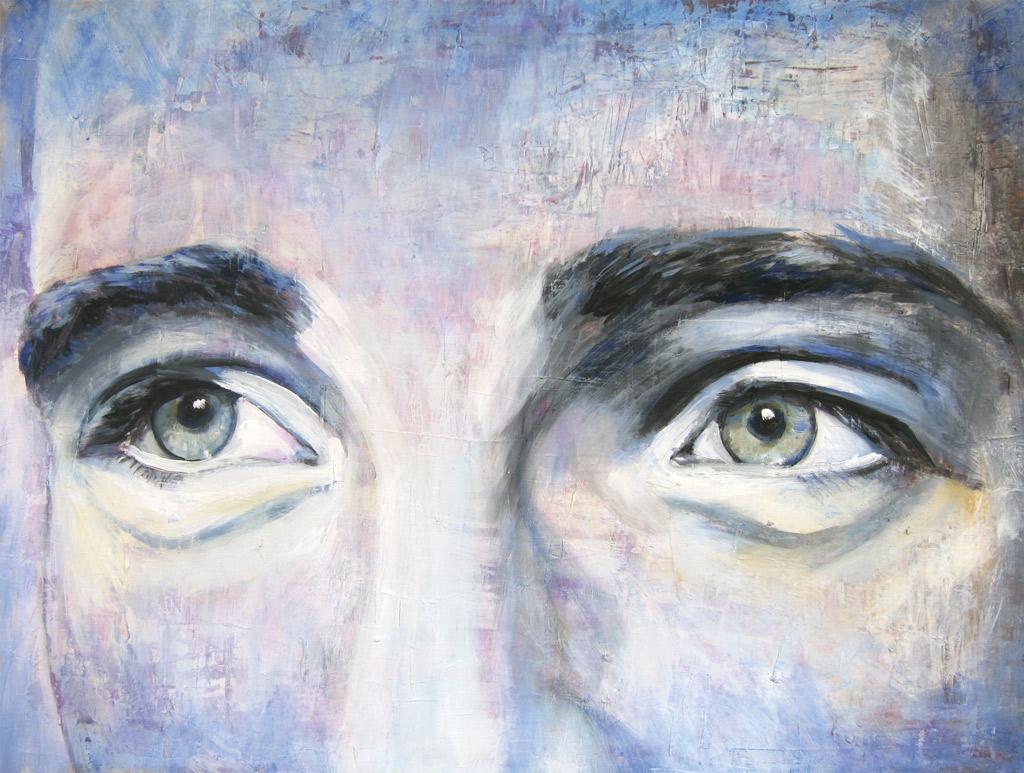 Porträt bekannte Personen / James_Dean_Augen