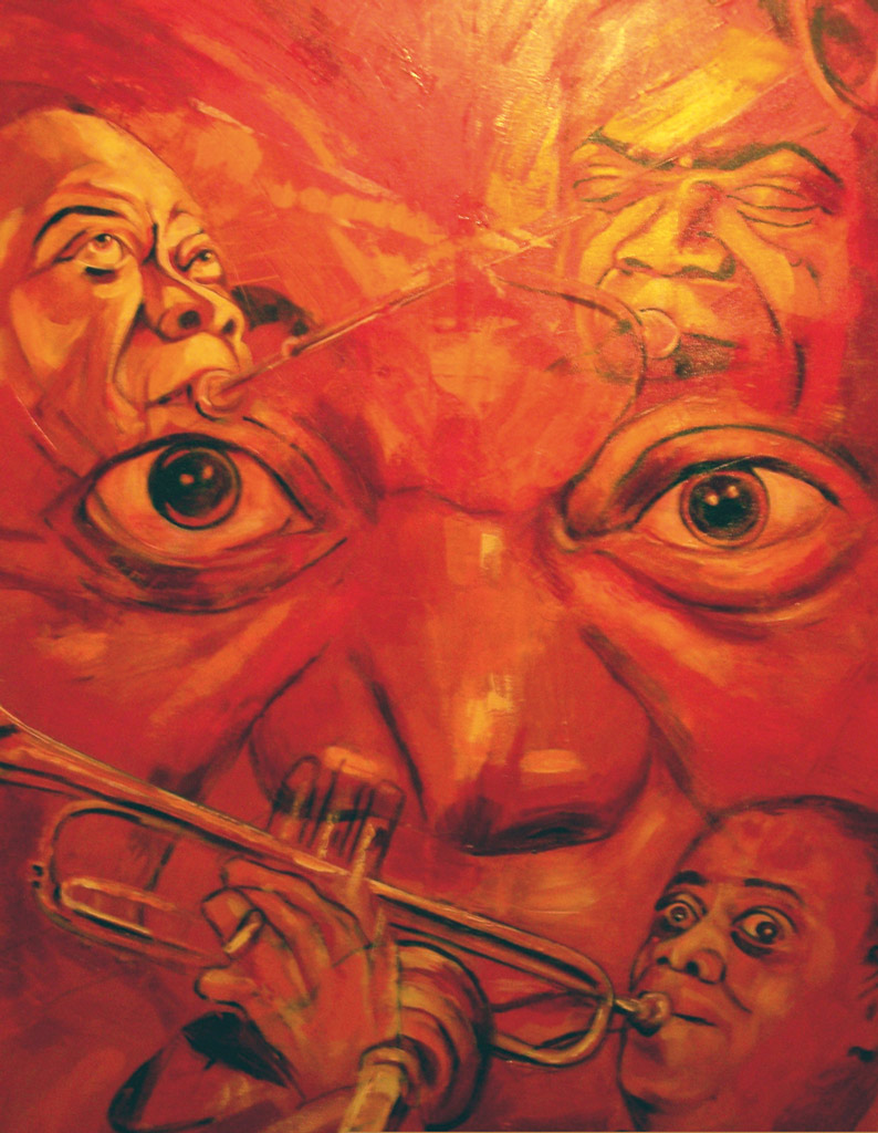 Composing_Musiker_Louis Armstrong_140x120 cm