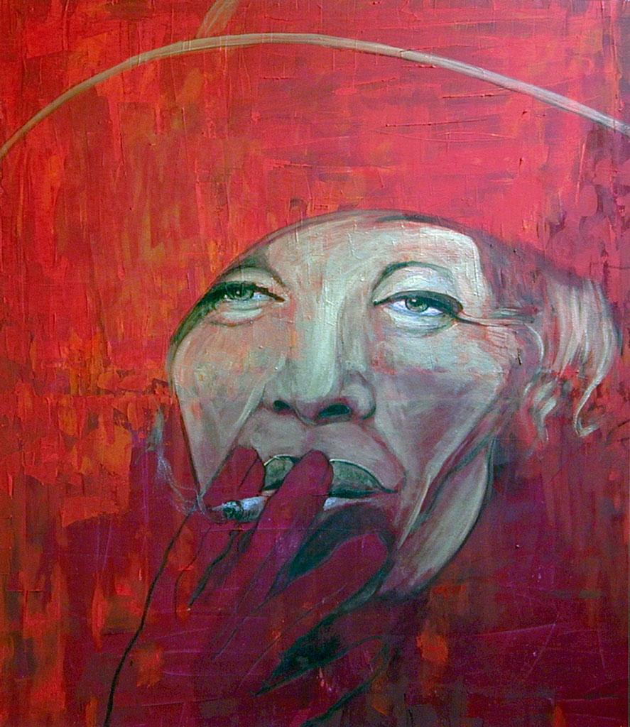 Porträt_Marlene Dietrich_90x110 cm