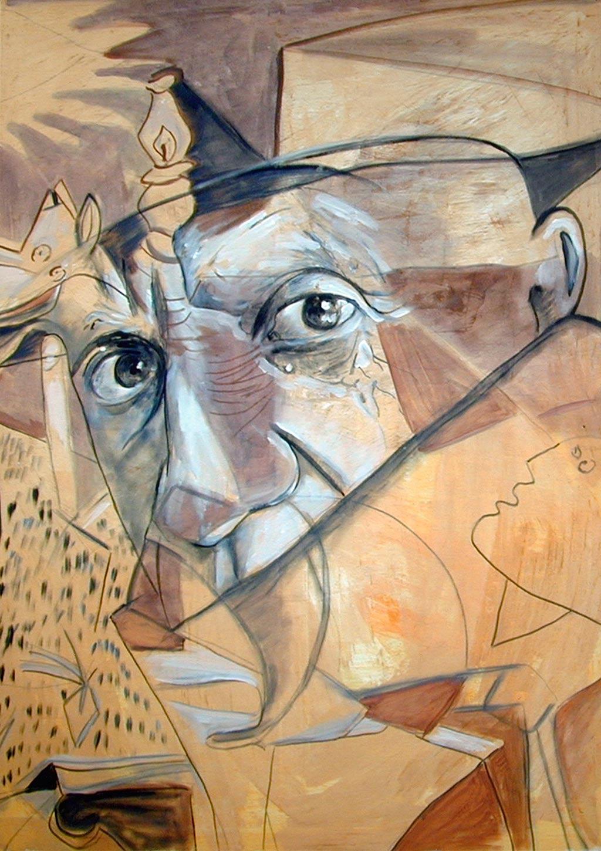 Composing_Porträt_Pablo Picasso_80x120cm_verk.
