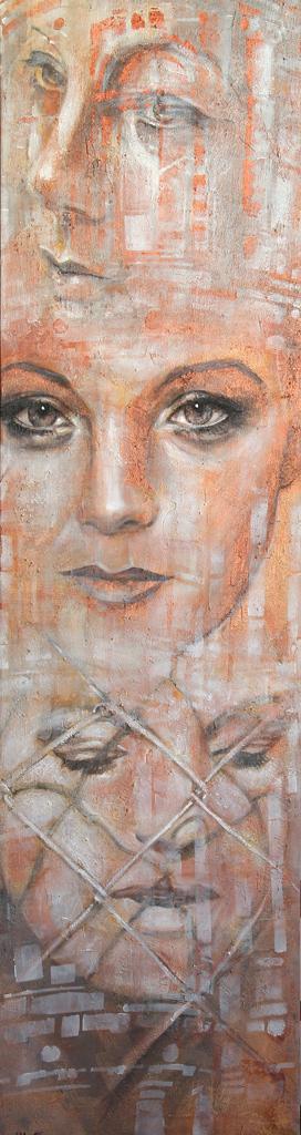 Romy Schneider ganzes Gemälde