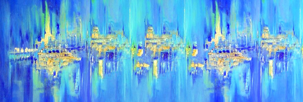 Seidenschal nach abstraktem Gemälde