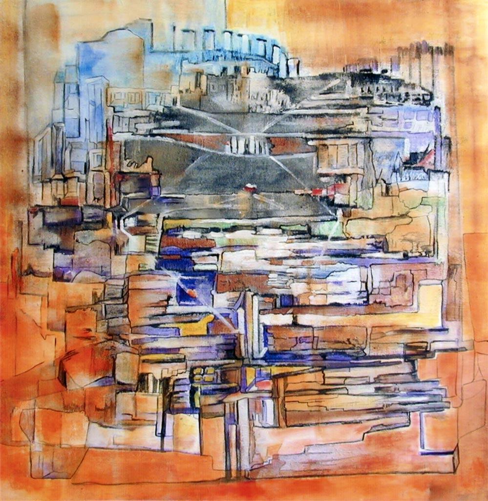 Abstrakt_orange stadt